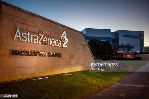The AstraZeneca Plc plant in Macclesfield, U.K., on Monday, Feb. 1, 2021. AstraZeneca Plc triggered an emergency just over a week ago when it...