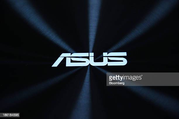 The Asus logo is displayed on an Asus ZenBook UX301LA laptop computer manufactured by Asustek Computer Inc during a product unveiling in Tokyo Japan...