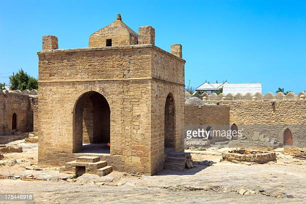 the atashgah fire temple - syolacan stock pictures, royalty-free photos & images