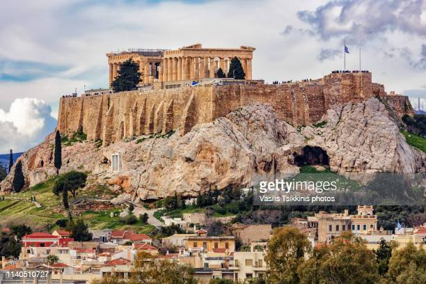 the athens acropolis - athens greece stock pictures, royalty-free photos & images