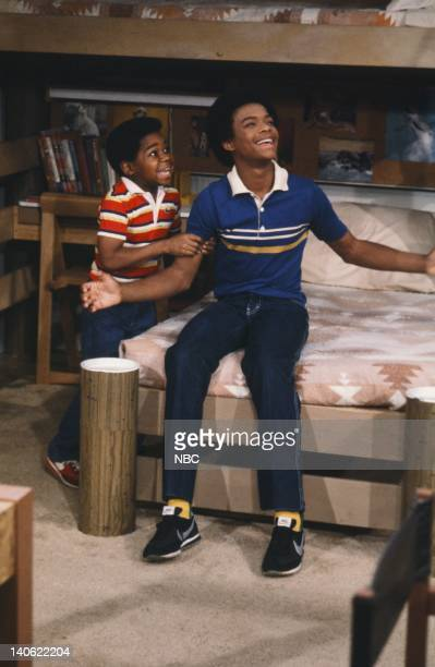 RENT STROKES The Athlete Episode 22 Pictured Gary Coleman as Arnold Jackson Todd Bridges as Willis Jackson Photo by Paul Drinkwater/NBC/NBCU Photo...
