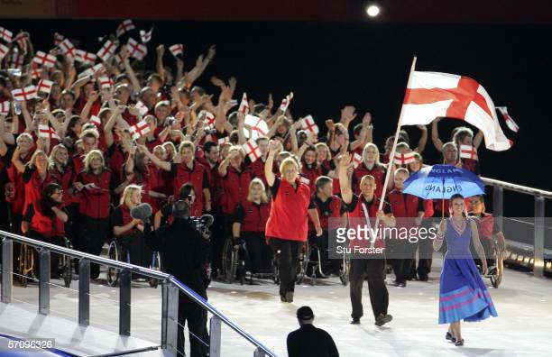 The athletes representing England enter the arena during the Opening Ceremony for the Melbourne 2006 Commonwealth Games at the Melbourne Cricket...