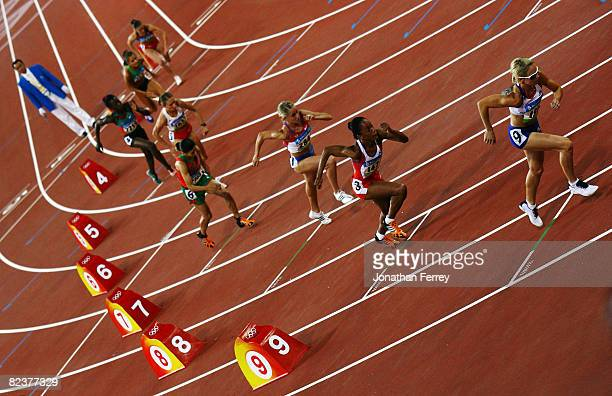 The athletes start the Women's 800m Semi Final at the National Stadium on Day 8 of the Beijing 2008 Olympic Games on August 16 2008 in Beijing China