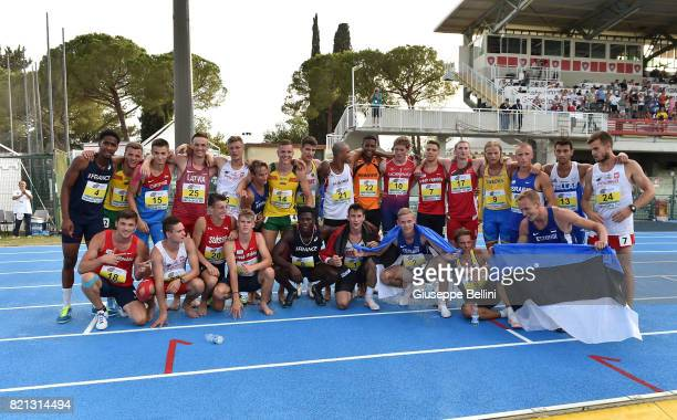 The athletes who participated in the race of Decathlon Men during European Athletics U20 Championships on July 23 2017 in Grosseto Italy