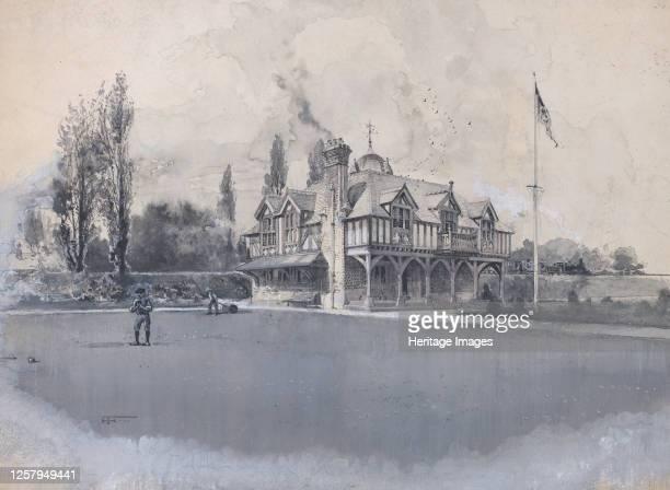 The Athletic Club at Bowling Green, circa 1900. Artist Harry Fenn.