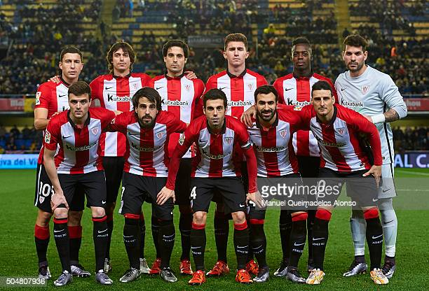 The Athletic Club de Bilbao team pose prior to the Copa del Rey Round of 16 second leg match between Villarreal CF and Athletic Club de Bilbao at El...