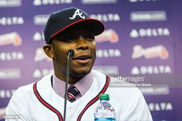 The Atlanta Braves announce that Justin Upton will be joining the Atlanta Braves as the new left fielder on Tuesday January 29 2013