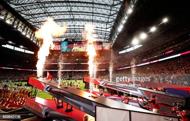 The Atlanta Falcons are introduced prior to Super Bowl 51 at NRG Stadium on February 5 2017 in Houston Texas