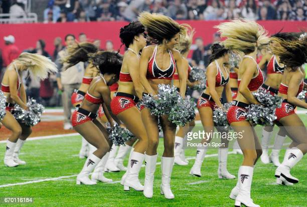 The Atlanta Falcons cheerleaders performs prior to the start of Super Bowl 51 between the New England Patriots and Atlanta Falcons on February 5 2017...