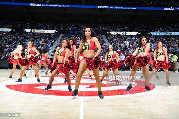 The Atlanta Hawks dance team performs during the game against the Boston Celtics on November 6 2017 at Philips Arena in Atlanta Georgia NOTE TO USER...