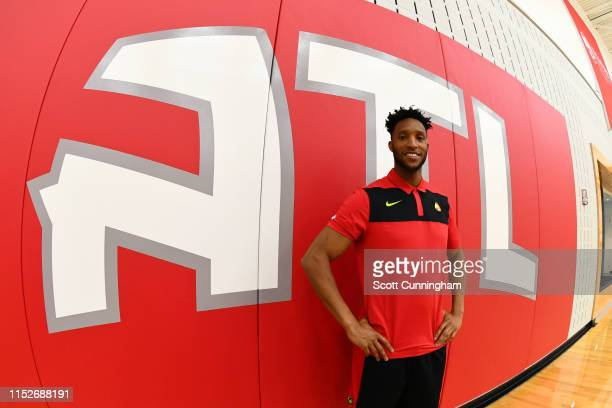 The Atlanta Hawks introduce Evan Turner on June 28 2019 at the Emory Sports Medicine Complex in Atlanta Georgia NOTE TO USER User expressly...