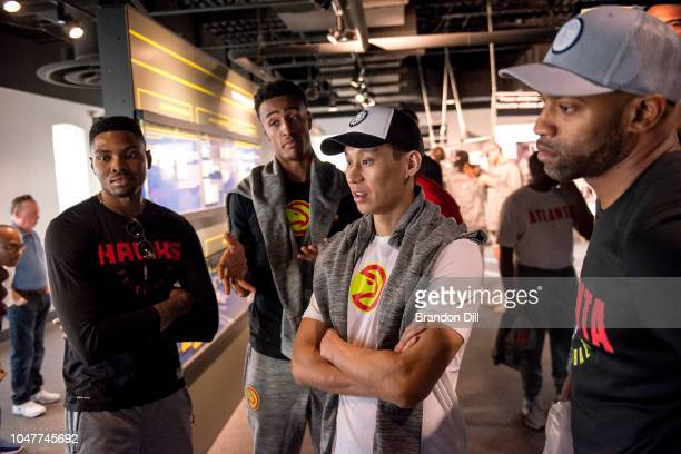 The Atlanta Hawks look on at the National Civil Rights Museum in Memphis Tennessee NOTE TO USER User expressly acknowledges and agrees that by...