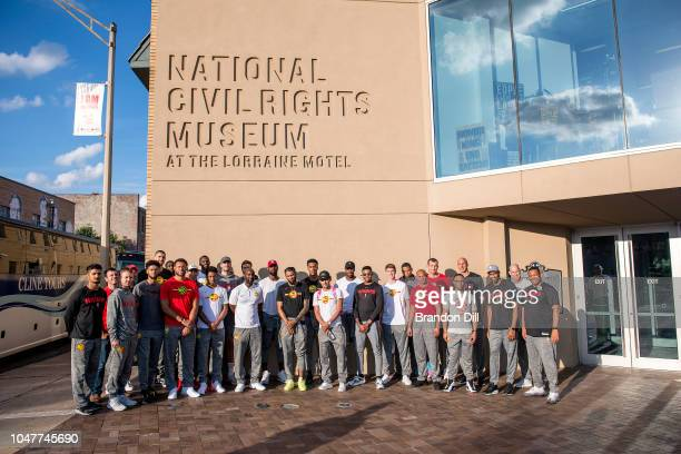 The Atlanta Hawks pose for a team photo at the National Civil Rights Museum in Memphis Tennessee NOTE TO USER User expressly acknowledges and agrees...