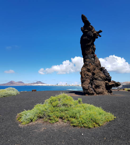 The Atlantean (El Atlante) sculpture made of volcanic stone at El Rincon Park in Las Palmas de Gran Canaria, Spain