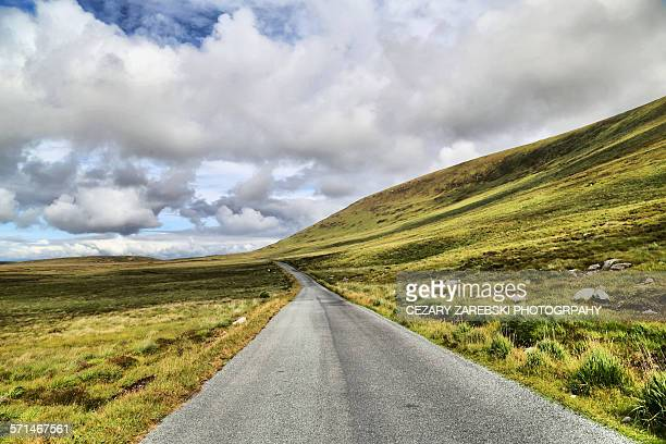 the atlantic drive on achill island - county donegal stock photos and pictures