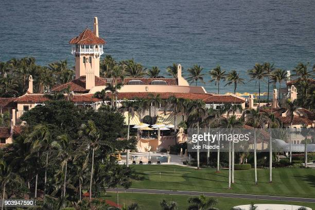 The Atlantic Ocean is seen adjacent to President Donald Trump's beach front MaraLago resort the day after Florida received an exemption from the...