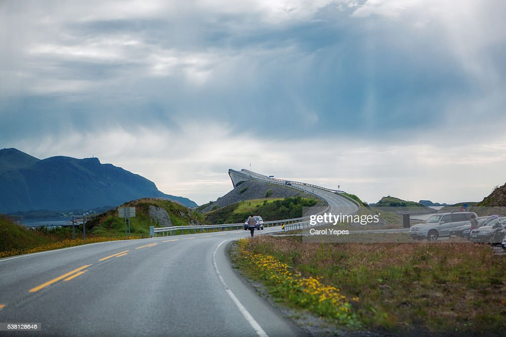The Atlantic Ocean Road : Foto de stock