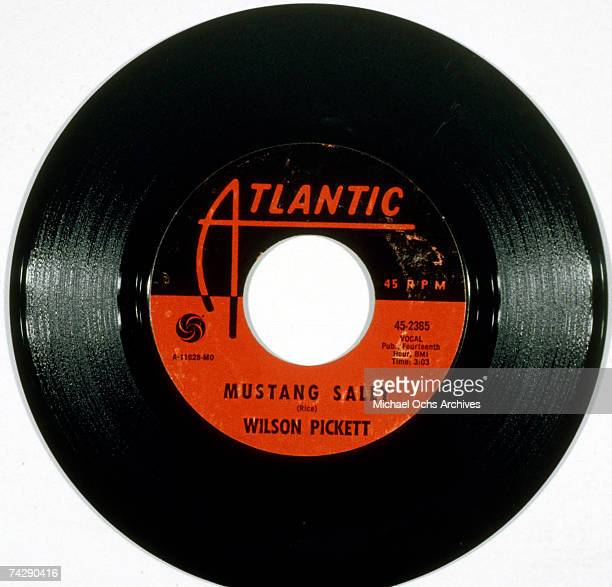 """The Atlantic Records seven-inch single release of soul singer Wilson Pickett's """"Mustang Sally"""", from November 26, 1966."""