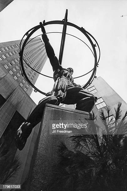 The Atlas statue in front of the Rockefeller Center 5th Avenue New York City 1967