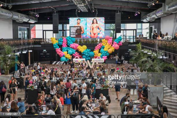 The atmosphere at the Love Island finale screening at Boxpark Wembley in London