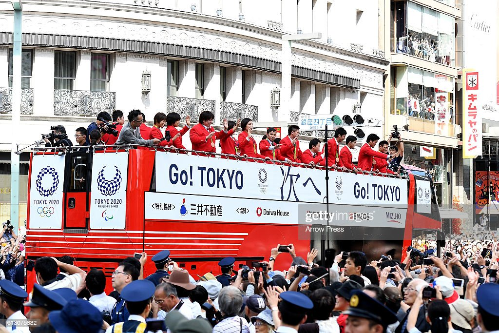 Japanese Olympic Medalists Parade : News Photo