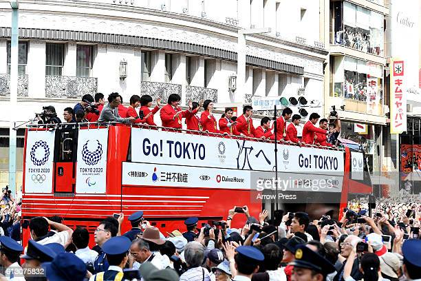 The atmosphere during the Rio Olympics 2016 Japanese medalist parade on October 7 2016 in Tokyo Japan According to the organizer more than 800000...