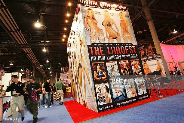 The atmosphere inside the 2005 AVN Adult Entertainment Expo is seen at the Sands Convention Center at the Venetian Hotel January 7 2005 in Las Vegas...