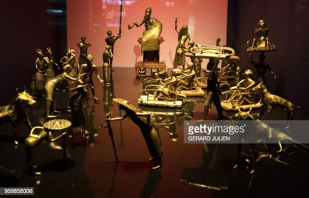 The Ato ceremony of the Kingdom of Dahomey circa 1934 is pictured on June 18 2018 at the Quai Branly MuseumJacques Chirac in Paris Benin is demanding...