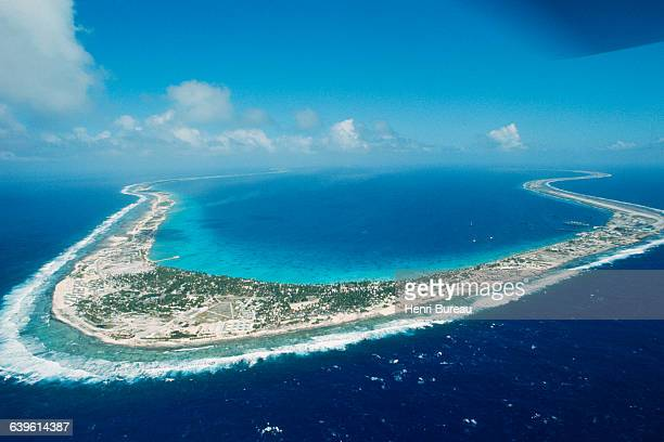 The atoll of Moruroa, also called Mururoa, is an island of the Tuamotu Archipelago in the Pacific Ocean used as a testing ground for French nuclear...