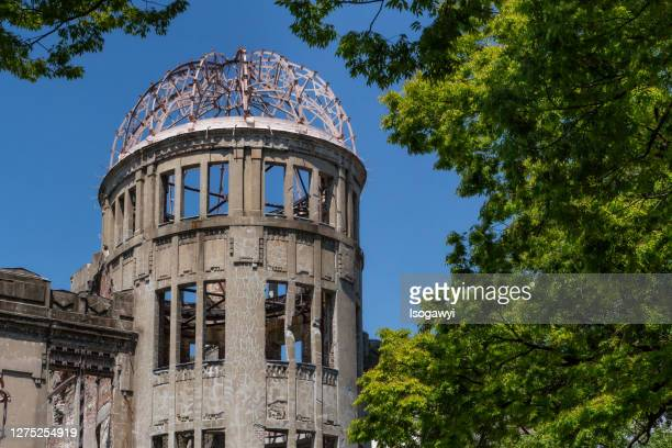the atomic bomb dome, hiroshima peace memorial - isogawyi stock pictures, royalty-free photos & images