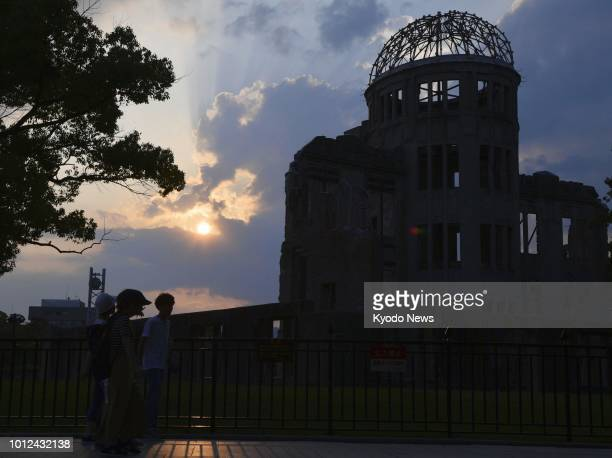 The Atomic Bomb Dome is pictured in Hiroshima on Aug 4 two days before the 73rd anniversary of the US atomic bombing of the western Japan city ==Kyodo