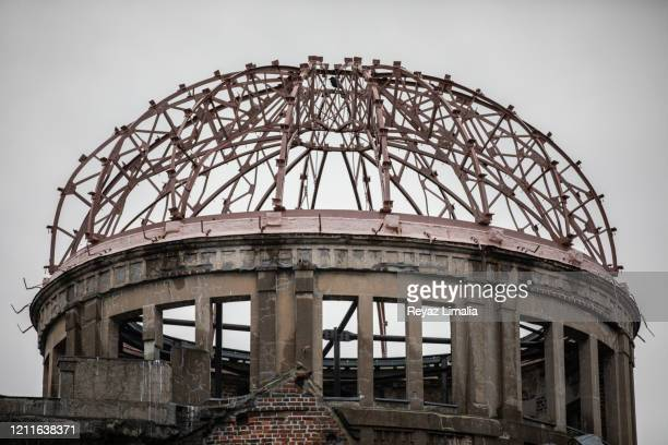 the atomic bomb dome - atomic bombing of hiroshima stock pictures, royalty-free photos & images
