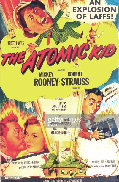 The Atomic Kid poster US poster Mickey Rooney bottom from left Mickey Rooney Elaine Devry Robert Strauss 1954