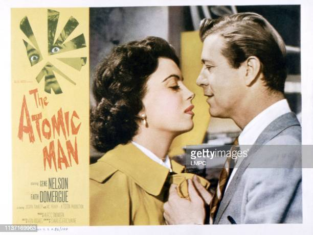 The Atomic Man poster from left Faith Domergue Gene Nelson 1955