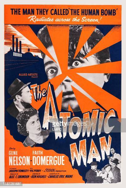 The Atomic Man poster US poster art left from top Gene Nelson Faith Domergue 1955