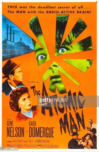 The Atomic Man poster US poster left from top Gene Nelson Faith Domergue 1955