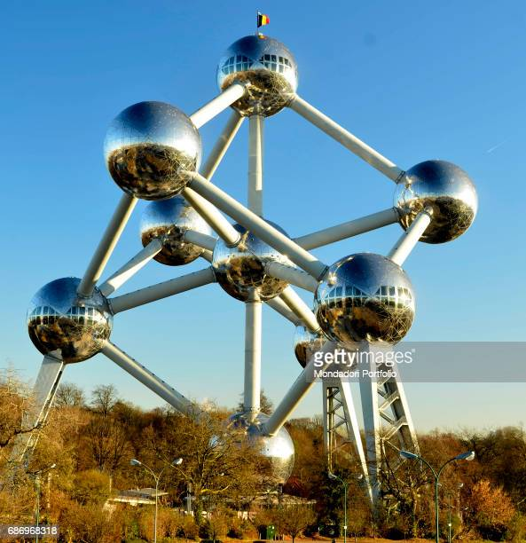 The Atomium in the Heysel Park Brussels Belgium 4th December 2016