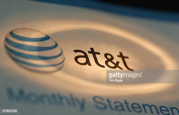 The AT&T logo is seen atop a phone bill May 12, 2006 in Des Plaines, Illinois. The US National Security Agency began collecting information from...
