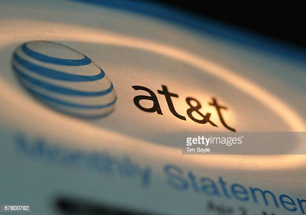 The ATT logo is seen atop a phone bill May 12 2006 in Des Plaines Illinois The US National Security Agency began collecting information from phone...