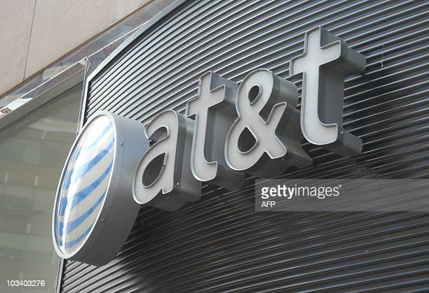 The ATT logo is seen on June 2 2010 in Washington DCAFP PHOTO/Etienne FRANCHI