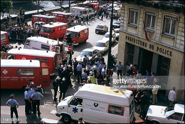The attack against the BRB Schedule to the PJ brigade suppression of banditry in Paris France on July 09 1986
