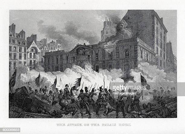 The Attack on the Palace Royal, 1882. Private Collection. Artist : Anonymous.