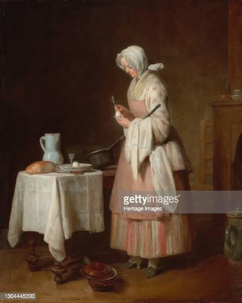 The Attentive Nurse, 1747. Artist Jean-Simeon Chardin.