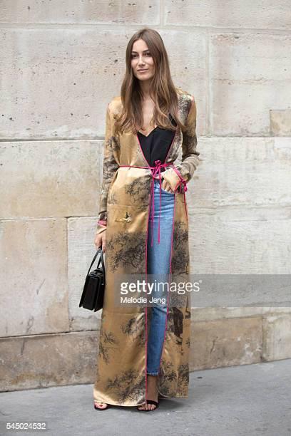 The Attico cofounder Giorgia Tordini after the Iris Van Herpen show at Eglise de lÕOratoire du Louvre on July 4 2016 in Paris France
