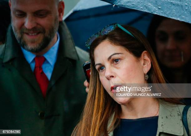 The attorney of 'El Chapo' Guzman Michelle Gelernt answers questions from reporters outside the US Federal Courthouse in Brooklyn after a hearing in...