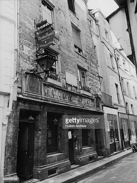 The Auberge Nicolas Flamel at 51 rue de Montmorency in Paris 5th August 1971 Built in 1407 this was once the house of renowned alchemist Nicolas...