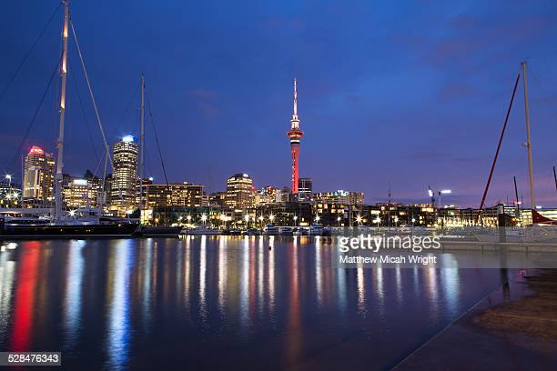 The Auckland Sky Tower at night