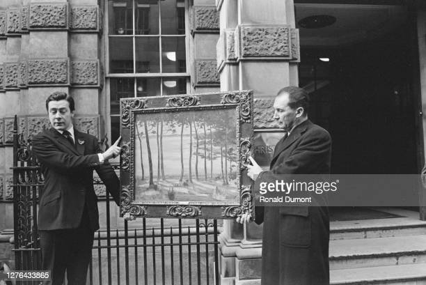 The auction of a painting at Christie's in London 12th November 1965