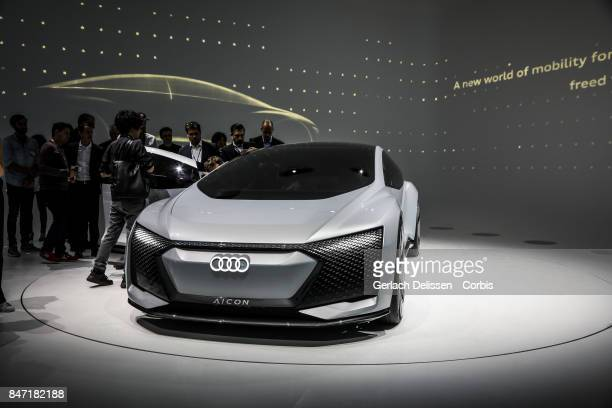 The Audi Aicon Concept on display at the 2017 Frankfurt Auto Show 'Internationale Automobil Ausstellung' on September 13 2017 in Frankfurt am Main...
