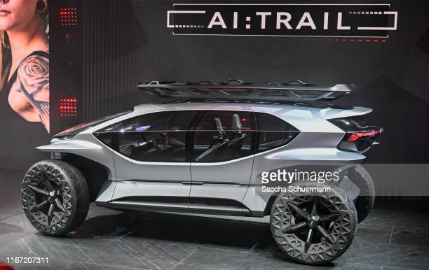 The Audi AI:TRAIL is seen at the Audi press conference at the IAA Frankfurt Motor Show on September 10, 2019 in Frankfurt am Main, Germany.
